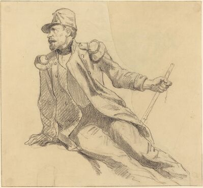 Hippolyte Bellangé, 'A Seated Soldier'