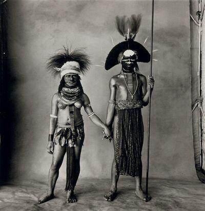 Irving Penn, 'Young Enga Couple (New Guinea)', 1970