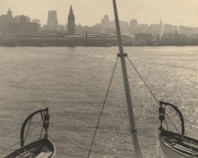 William Dassonville, 'Lifeboats, San Francisco Skyline', ca. 1925