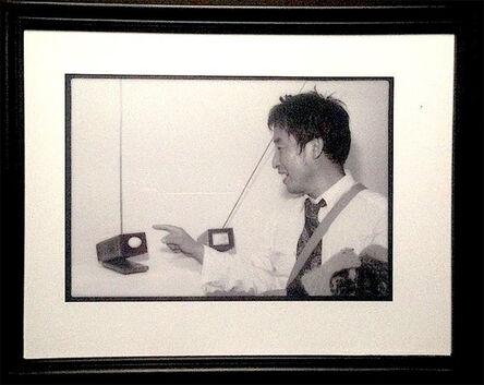 Paul Garrin, 'Nam June Paik in front of 'Live Egg, Real Egg', Whitney Museum', 1982
