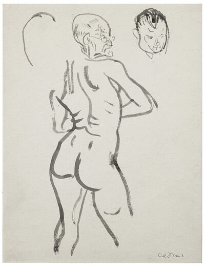 Paul Cadmus, 'Old Man from Behind with Face Study', 1950s-1990s
