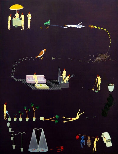 Akira Ikezoe, 'Coconut Heads in Bogota', 2016