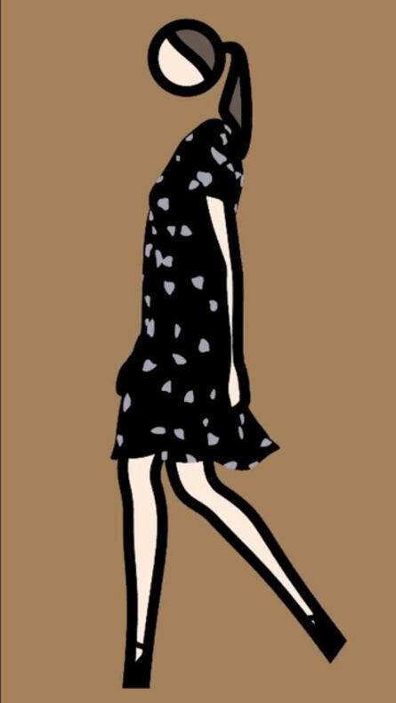 Julian Opie, 'Verity walking in dress 3.', 2013