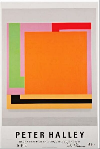 Peter Halley, 'Peter Halley (Hand signed, From the collection of artist Bill Radawec)', 1991
