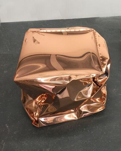 Alyson Shotz, 'Crushed Cube (copper)', 2018