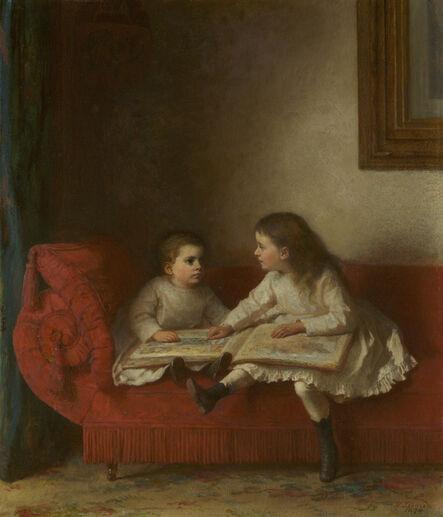 Eastman Johnson, 'The Lesson ', 1874