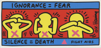 Keith Haring, 'Fight Aids', 1998