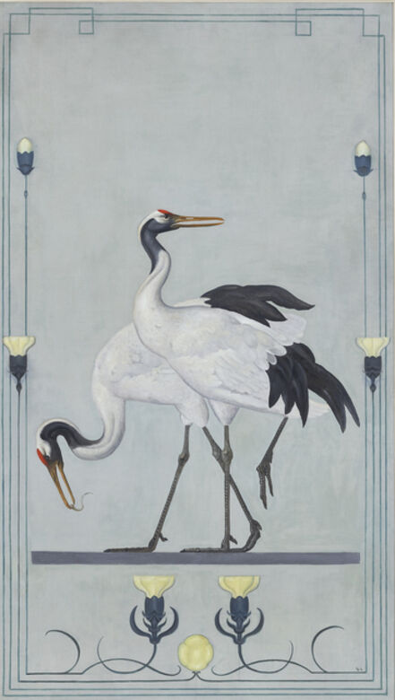 Willem Adriaan van Konijnenburg, 'Japanese Cranes', ca. 1899