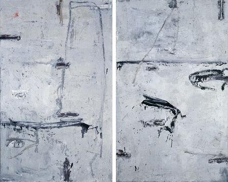 Huang Rui 黄锐, 'Beijing Image – Diptych 北京印象 -雙聯幅', 1990