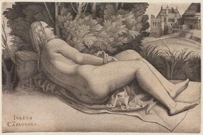 Giulio Campagnola, 'Venus Reclining in a Landscape', c. 1508-1509