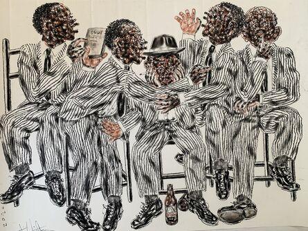 Salifou Lindou, 'Politiciens #5', 2020