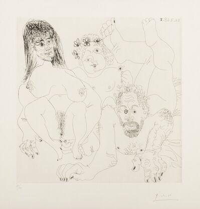 Pablo Picasso, 'Couple Aux Champ, Avec un putto couronne de Fleurs (Bloch 1697)', 1968