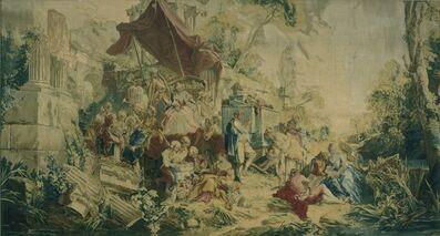 """François Boucher, 'Tapestry with the Scenes """"L'Operateur"""" and """"La Curiosité""""', 1736"""