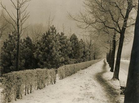 Germaine Van Parys, 'Roadside Landscape in Snow', 1930s