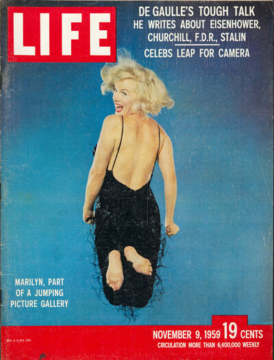 Philippe Halsman, 'Cover of the magazine Life with a portrait of Marilyn Monroe jumping by Philippe Halsman, November 9', 1959