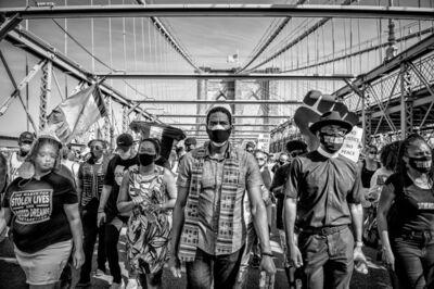 Kevin Wilson, 'Jumaane Williams at Brooklyn Bridge Protest', 2020