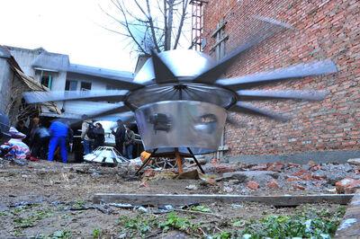 Cai Guoqiang 蔡国强, 'Da Vincis do Povo, China Research (Du Wenda's Flying Saucer D)', March 2010