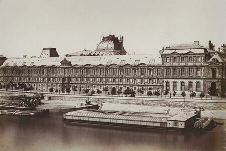 Édouard Baldus, 'La Fascade Meridionale de la Grand Galerie, Paris', 1855-57