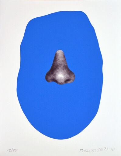 John Baldessari, 'Nose/Silhouette: Blue', 2010