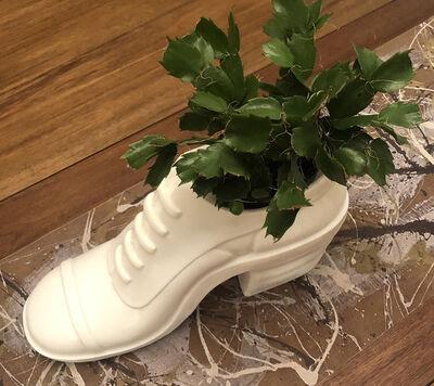 Shimon Okshteyn, 'White Shoe (table vase/planter)', 1993-2021