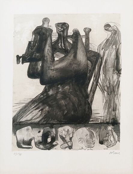 Henry Moore, 'MOTHER AND CHILD WITH BORDER DESIGN', 1800