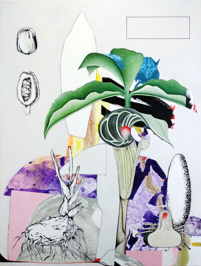 Fiona Ackerman, 'Naturalis Malum - lively narrative of overlapping shapes and flora', 2019