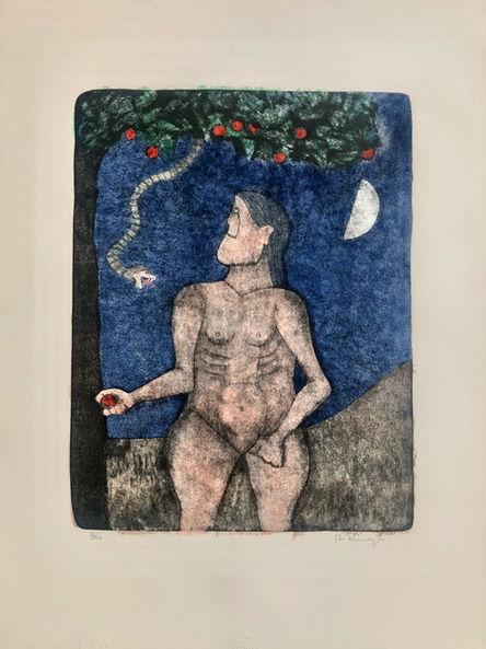 Rufino Tamayo, 'Adam and Eve (Adan y Eva) from the 90th Anniversary suite (90 Aniversario)', 1990