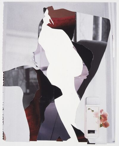 Angus Fairhurst, 'Three pages from a magazine, body and text removed', 2004