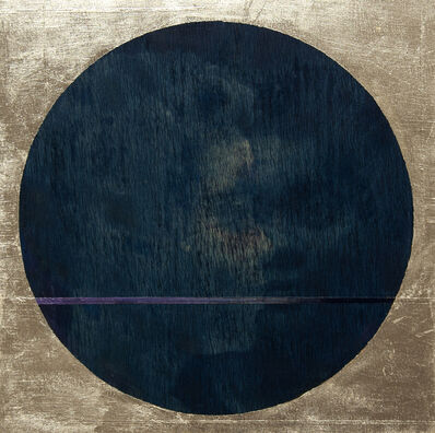 Aimée M. Everett, 'Disharmonious Illusions-Contemporary Self-Portrait in Silhouette Painting with Blue + Gold Leaf', 2020