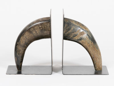 Carl Auböck, 'Black Horn Bookends ', 1958