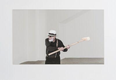 Michelangelo Pistoletto, 'Rottura dello specchio – azione 4', 2017