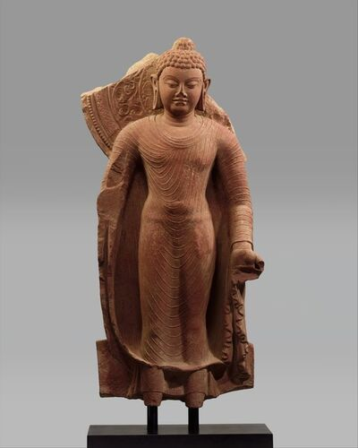 Unknown Indian, 'Standing Buddha Offering Protection', late 5th century