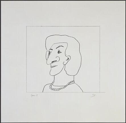 Saul Steinberg, 'Portrait of M', 1997