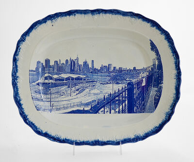 Paul Scott, 'Cumbrian Blue(s), New American Scenery, New York from Brooklyn (After Beth Katleman)', 2019