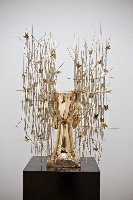 Manolo Valdés, 'Cabeza Dorada con Mariposas', 2018
