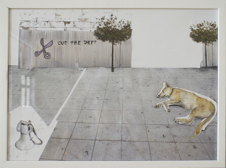 Christine S. Prantauer, 'loukanikos, riot dog 2', 2016