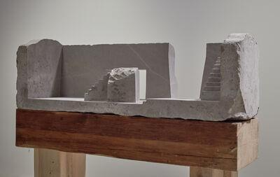 Diego Pérez, 'Mesa de mármol con dos escaleras', 2020