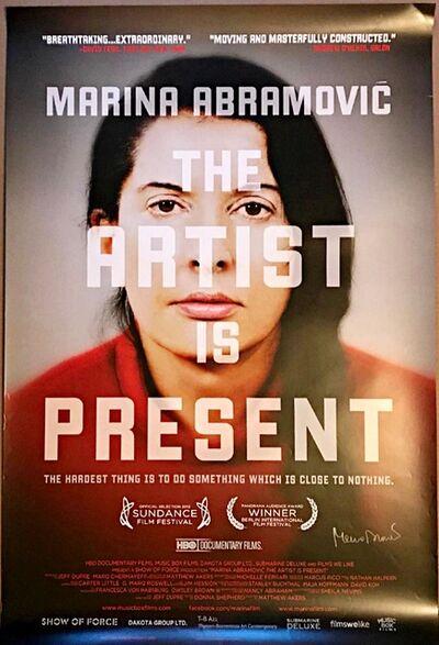 Marina Abramović, 'The Artist is Present (Hand Signed)', 2012