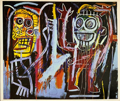 Jean-Michel Basquiat, 'Jean-Michel Basquiat 'A Tribute' (Basquiat Dust Heads announcement, Tony Shafrazi 1996) ', 1996