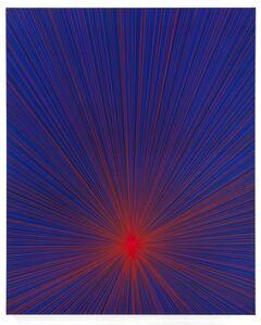 Karen Arm, 'Untitled (Red Beam on Blue)', 2016