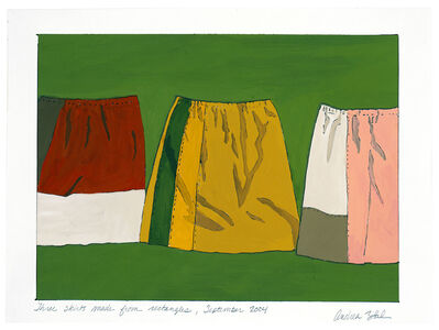 Andrea Zittel, 'three skirts made from rectangles, September 2004', 2004
