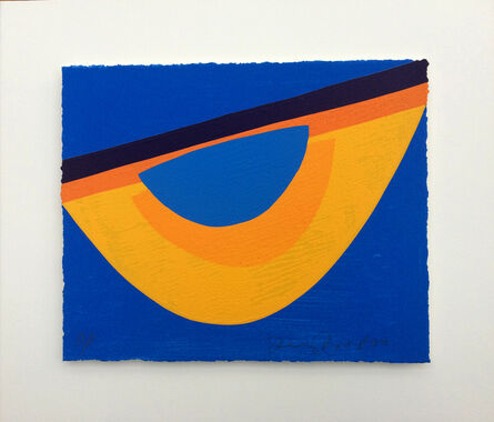 Terry Frost, 'Yellow and Blue for Bowjey', 2000