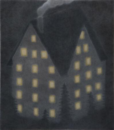 Johnny Izatt-Lowry, 'Chalet at night', 2019
