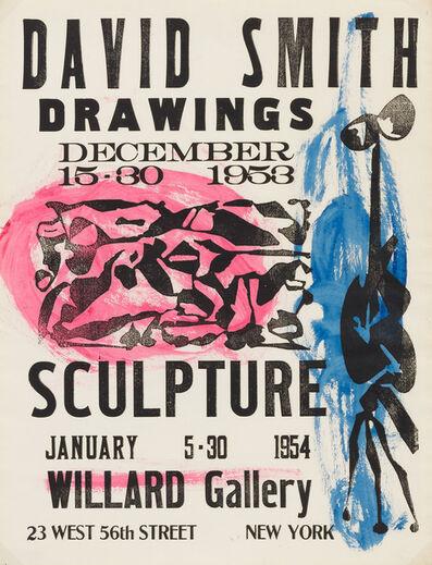 David Smith (1906-1965), 'Willard Gallery Poster', 1953