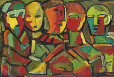 Francis Newton Souza, 'Untitled (Abstract Figures)', 1949
