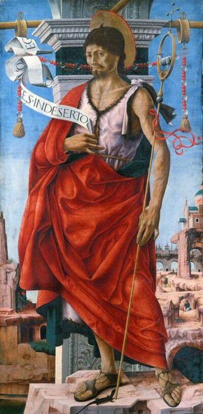 Francesco del Cossa, 'Saint John the Baptist', 1472-1473