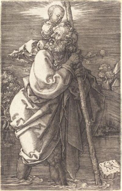 Albrecht Dürer, 'Saint Christopher Facing Left', 1521