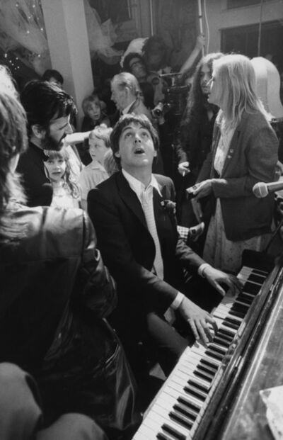 Terry O'Neill, 'Paul Mc Cartney and Ringo Starr at Ringo's wedding to Barbara Bach, London', 1981