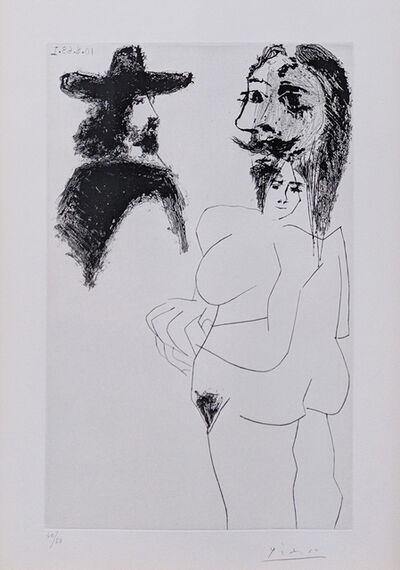Pablo Picasso, 'BEAU GENTILHOMME ESPAGNOL ET FEMME À BARBE (BLOCH 1743)', 1968