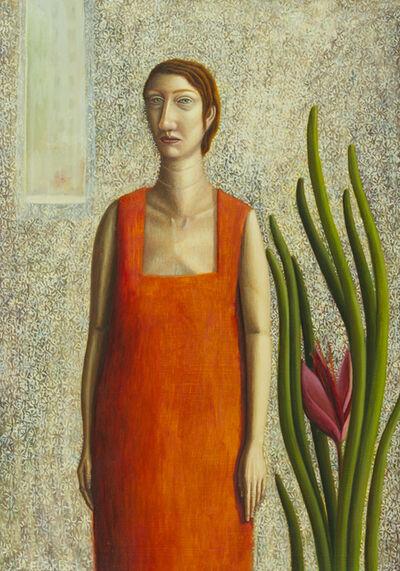Helen Flockhart, 'Woman in orange dress', 2017